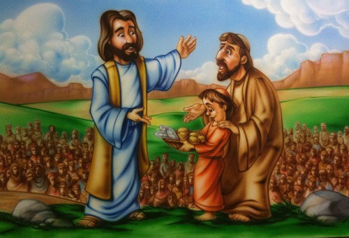 Jesus and boy feeds 5000